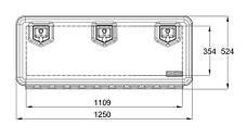 Ящик инструментальный 1250*524*500 мм Daken Италия (8390), фото 2
