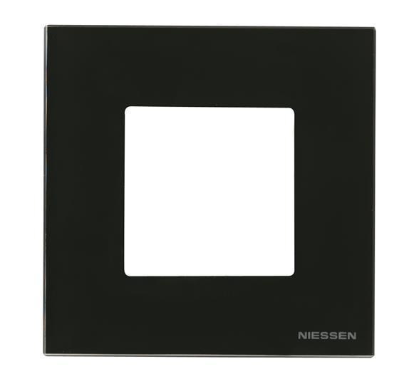 Рамка 1 постова чорне скло N2271 СN, ZENIT