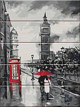 Картина по номерам по дереву Старый Лондон