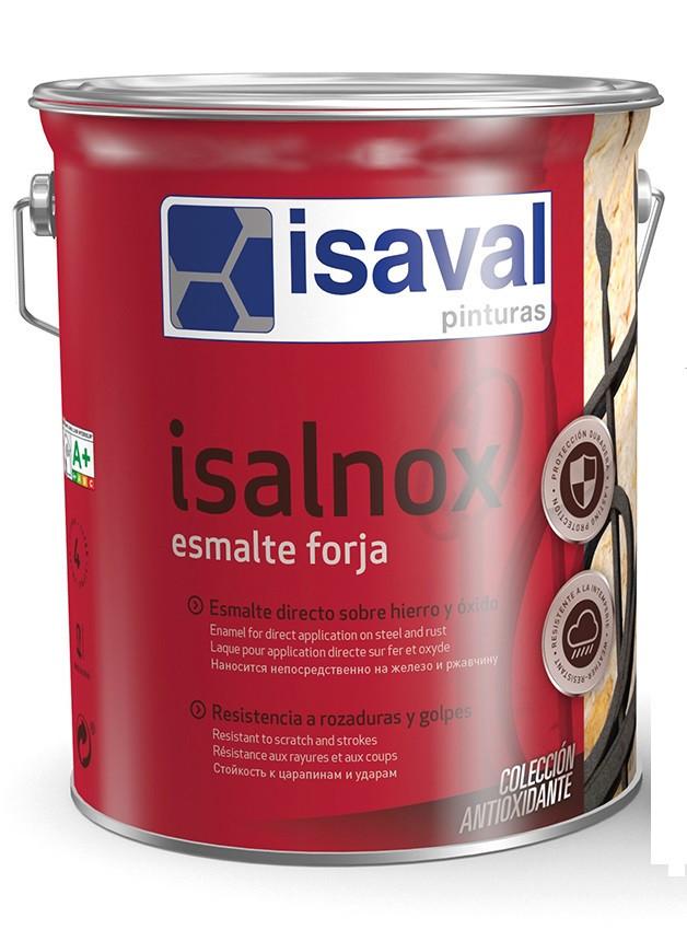 Антикорозійна емаль для металу з ефектом ковки ISAVAL Forja Срібно-Сіра 4 л