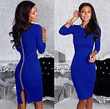 Платье на молнии модное  женское,размеры:42,44,46,48., фото 4