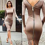 Платье на молнии модное  женское,размеры:42,44,46,48., фото 6