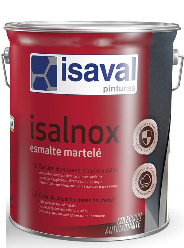 Антикорозійна емаль для металу з молотковим ефектом ISAVAL Martele Срібно-Сіра 4 л