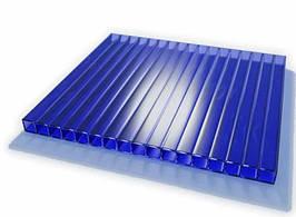 Сотовый поликарбонат SOTALIGHT (сотолайт) синий 6 мм