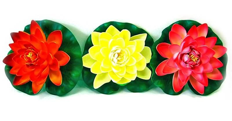Цветок лотоса плавающий (17 cм)