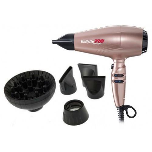 Профессиональный фен для волос с ионизацией BaByliss Pro RAPIDORose Gold BAB7000IRGE 2200W