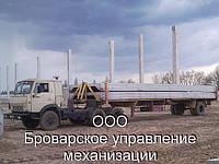 Негабаритные грузоперевозки конструкций седельными тягачами КАМАЗ с полуприцепами Бровары по Киевской области.