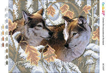Схема для вишивання бісером Вовки (част.виш.)
