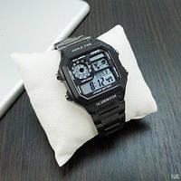 Мужские Часы Casio AE1200 \Касио\Спортивные\ Браслет\ Черные \Чорні \Чоловічі Часи Годинник  ГАРАНТИЯ