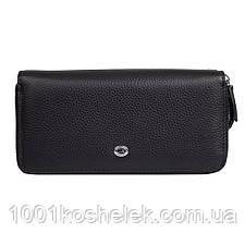 Женский кожаный кошелек на две молнии ST238-2 Black NEW