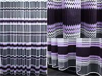 Тюль фатин полоса, цвет сиреневый с фиолетовым. Код 313т, фото 1