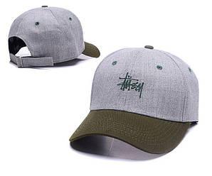 Бейсболка кепка Стасси мужская/женская серая (реплика) Сap Stussy Grey