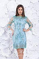 Женское шикарное бирюзовое платье