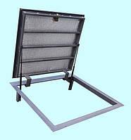 Напольный люк REVIZIO ELITE на газовых амортизаторах в погреб, подвал под плитку, гранит, мрамор