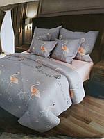 Набор постельного белья ткань бязь рисунок Фламинго