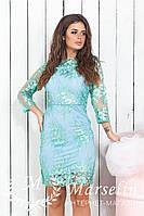 Женское красивое платье с кружевом