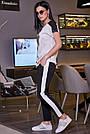 Чорні штани з лампасами жіночі літні, фото 3