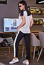 Чорні штани з лампасами жіночі літні, фото 4