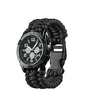 Часы Mil-Tec водонепроницаемые армейские ARMY UHR PARACORD Black M, L (15774002)
