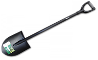 Лопата закругленная с металлическим черенком, KT-W2213