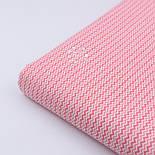 """Ткань хлопковая """"Двойной мини зигзаг кораллового цвета"""" на белом, коллекция Mini-mikro, №2126а, фото 3"""