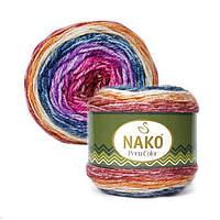 Nako Peru Color пряжа секционного окрашивания с шерстью альпака.
