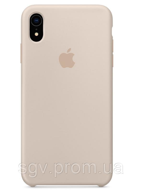 Силиконовый чехол для iPhone XR, цвет «бежевый»