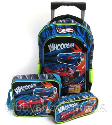 """Валіза-рюкзак дитячий """"Racing"""" з наповненням (3 предмета)"""