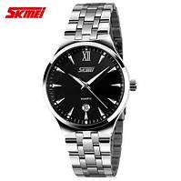 Наручные мужские часы Skmei 9071 Digest. Кварцевые часы с датой на браслете