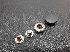 Кнопка пластиковая 15мм. Турция цвет черный (1000 шт в упаковке)