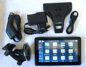 Навігатор в машину GPS 713 256 МБ Multi-touch, 4 Gb FM-transmitter