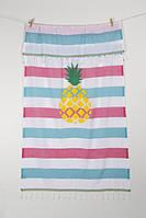 Полотенце Barine Pestemal - Ananas 90*170 Green-turkuaz-raspberry, фото 1