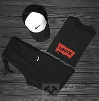Мужской летний костюм Levi's & Nike (Левайс и Найк) комплект 3 в 1