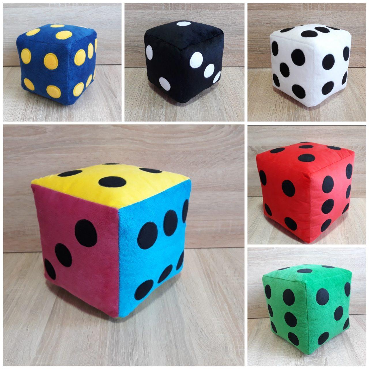 Мягкая игрушка Кубик игральная кость 22 см