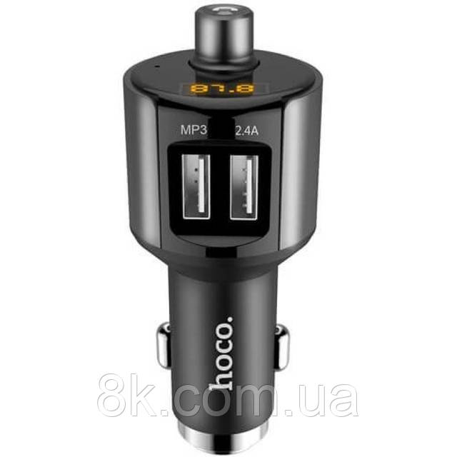 Автомобильное зарядное устройство Hoco E19 Bluetooth FM Launcher (2USB, 2.4А)