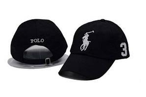 Бейсболка кепка Поло Мужская/женская черная (реплика) Сap Polo Black