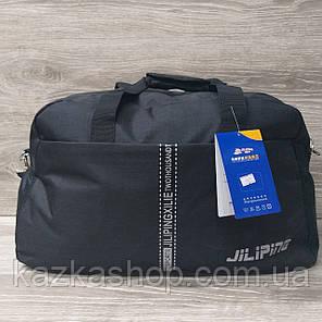 Дорожная сумка хорошего качества, среднего размера 50х30х19 см, плотный материал, ножки на дне сумке Черный