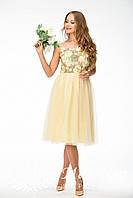 Женское нежное кружевное платье-макраме