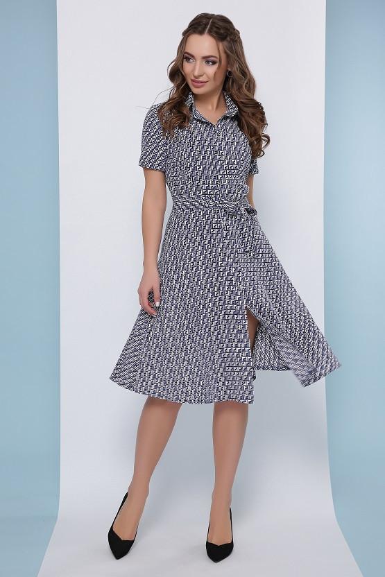 Летнее платье Жози синий (42-50)