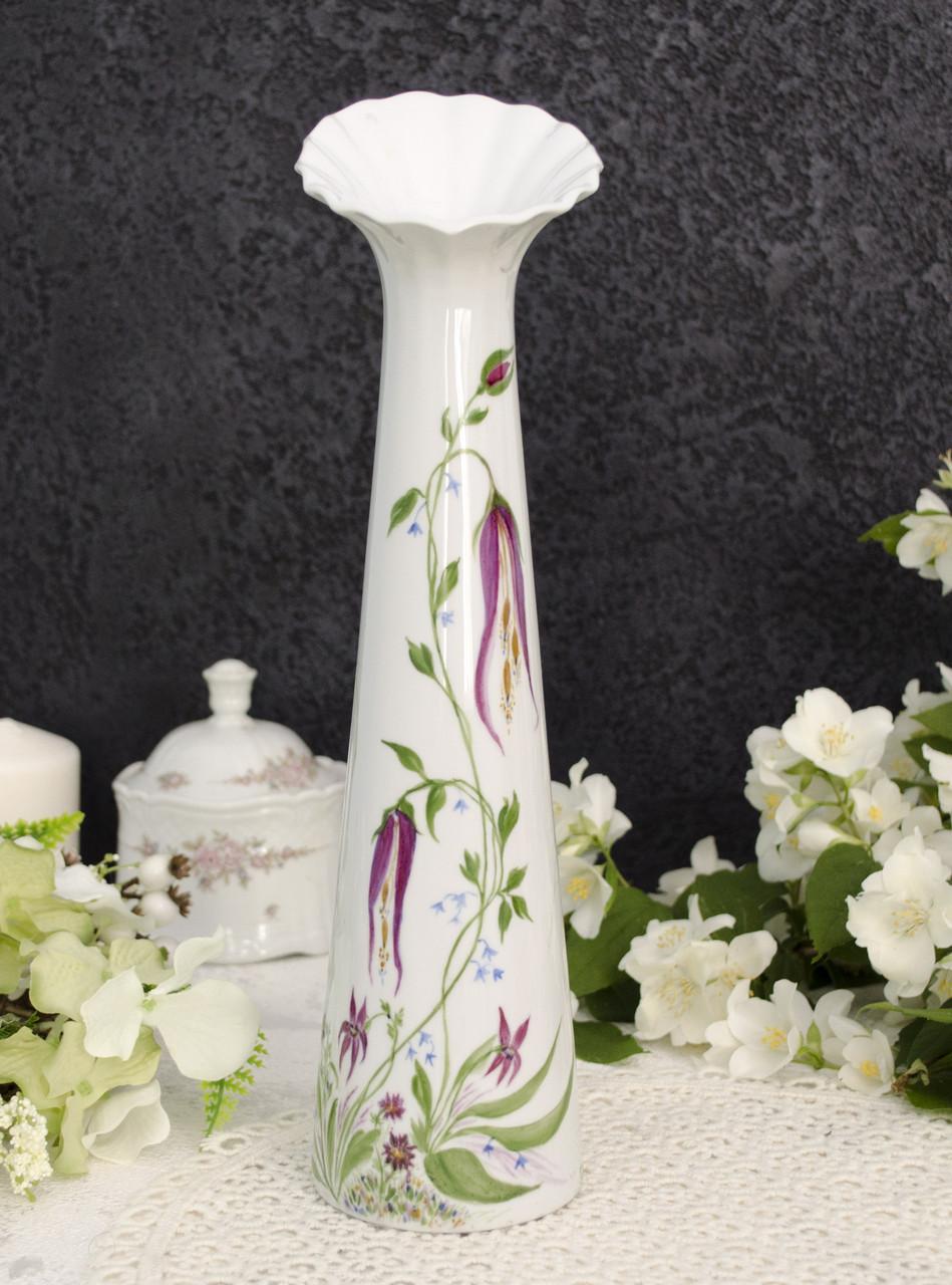 Винтажная фарфоровая ваза, фарфор, Tirschenreuth, Германия, Бавария, 1994 год