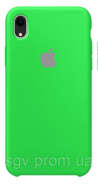Силиконовый чехол для iPhone XR, цвет «зеленое яблоко»