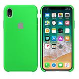 Силиконовый чехол для iPhone XR, цвет «зеленое яблоко», фото 2