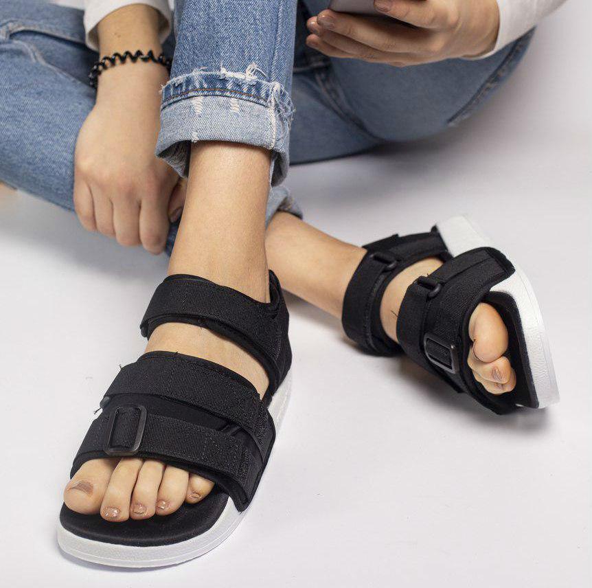 e0cfeb8d1 Adidas Adilette Sandal Black White   сандалии / босоножки женские;  черно-белые