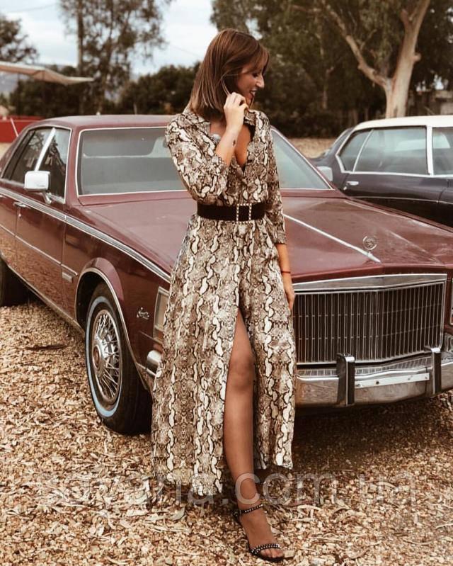 модное платье с принтом питон опт