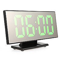 Электронные настольные зеркальные LED часы DS-3618L зеленая подсветка