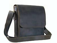 Мужская повседневная кожаная сумка GS коричневая