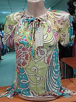 Молодежные блузочки из шифона в 3х цветах.р.42-44.