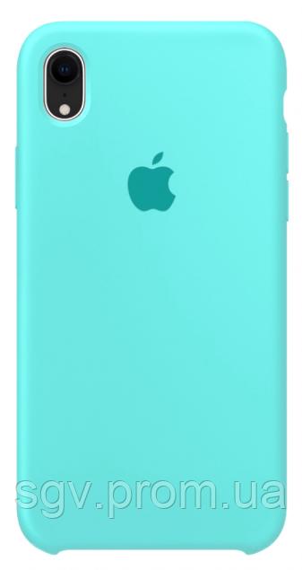 Силиконовый чехол для iPhone XR, цвет «морская волна»