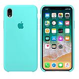 Силиконовый чехол для iPhone XR, цвет «морская волна», фото 2