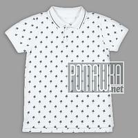 Детская футболка Polo 110 (104) 3-4 года детское Поло для мальчика детей ребёнку мальчику летняя 4676 Белый